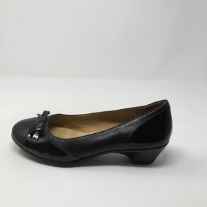 SOFFT SPOTS BLACK HEELS WITH BOW 6.5